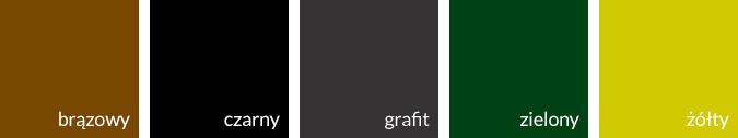 brazowy czarny grafit zielony zolty