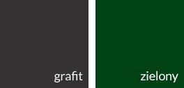 grafit i zielony